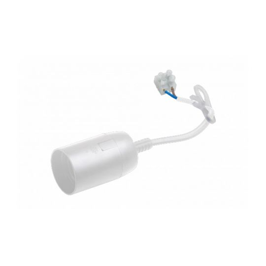 Fasung E27 cu Cablu, Alb, Meister
