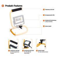 Proiector LED SMD cu Cablu, 10 W, 1.8 metrii, lumina rece, IP65, Clasa A++, Meister