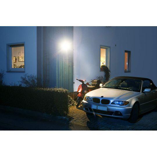 Proiector Negru LED SMD 8W cu senzor lumina rece Meister, alimentare acumulatori
