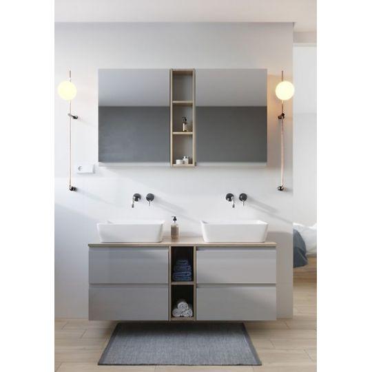 Dulap cu oglinda 60x80 cm, alb ,Cersanit Moduo (kit asamblare)