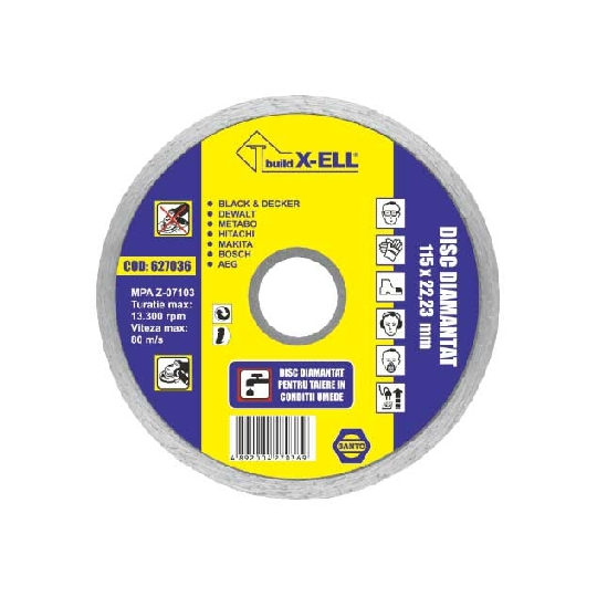 Disc diamantat BuildXell (UD) diametru 115 mm