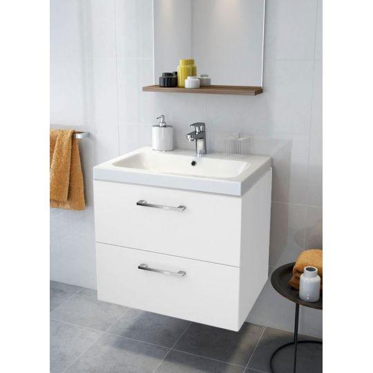 Set dulap baie Lara alb+ lavoar Colour 60 Cersanit