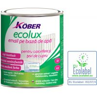 Vopsea pe baza de apa Ecolux Kolor Alb 2.5 l Kober