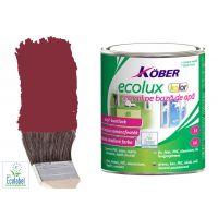 Vopsea pe baza de apa Ecolux Kolor Rosu Vin 2.5 l Kober