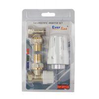 Set robineti calorifer tur + retur 1/2 + cap termostatat HARTMANN