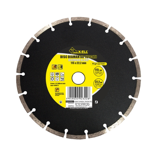 Disc diamantat segmentat (Uscat) 150x22.2 mm BX