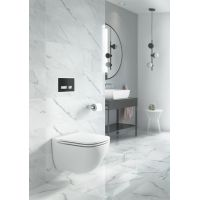 Set 741 vas WC suspendat Caspia Clean On Cersanit + capac WC Slim cadere lenta One Button Cersanit