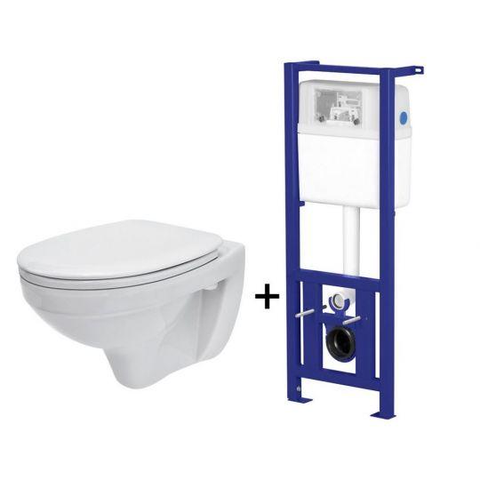 Pachet ALL IN ONE 849 compus din rezervor incastrat LINK + vas WC suspendat DELFI + capac WC Duroplast Delfi