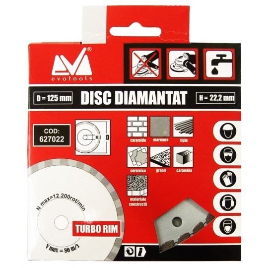 Disc Diamantat Uscat ETP 125 mm Evo Pro