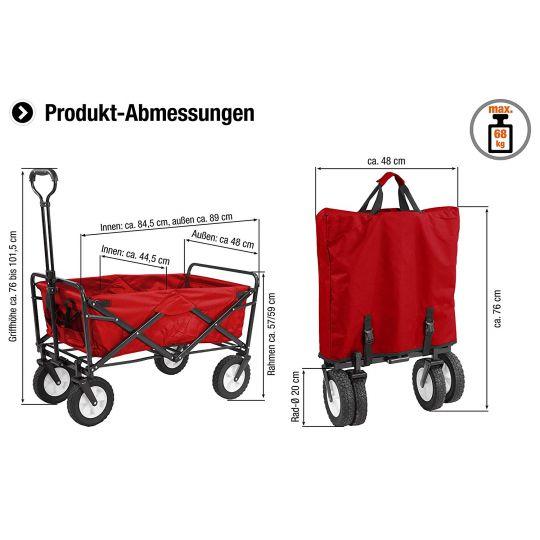 Carucior gradina Bollerwagen Standard 68 kg Meister