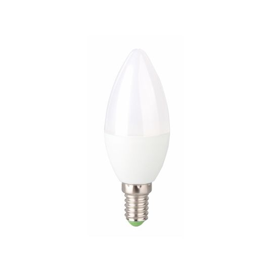 Bec LED EVO17 4W, lumanare C37, E14, lumina rece 5000K, Total Green