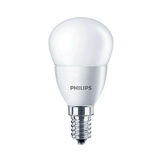 Bec LED 7W, sferic P48, E14, lumina calda 2700K, Philips