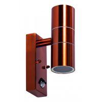 Lampa de gradina cu senzor ANTAL, 2x35W, GU10, IP65, cupru