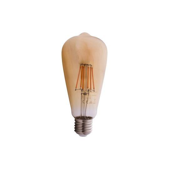 Bec LED Auriu EVO17 6W, ST64, E27, lumina calda 2200K, Total Green