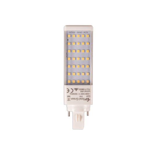 Bec LED 7W, PL-C 2P, G23, lumina rece neutru 4000K, Total Green