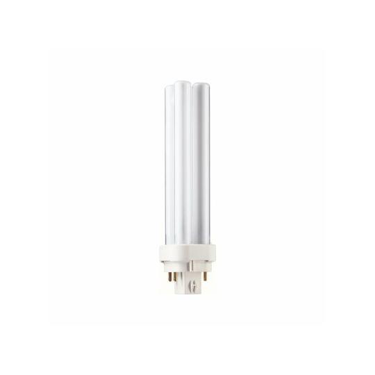 Bec economic PL-C 18W 4P, Stick, G24Q-2, lumina calda 3000K, Philips