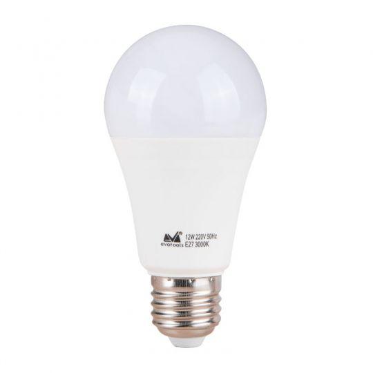 Bec LED 7W, A55, E27, lumina calda 3000K, Evotools