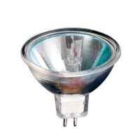 Bec halogen Spot MR16 50W, GU5.3, 12V, lumina calda 2800K, Total Green