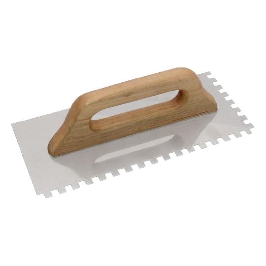 Drisca zimtata din otel inox cu maner de lemn