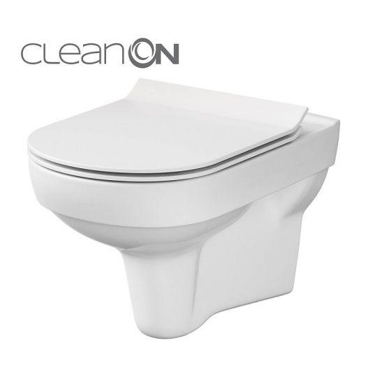 Set 794 vas WC suspendat City Clean On Cersanit + capac slim duroplast, cadere lenta, One Button