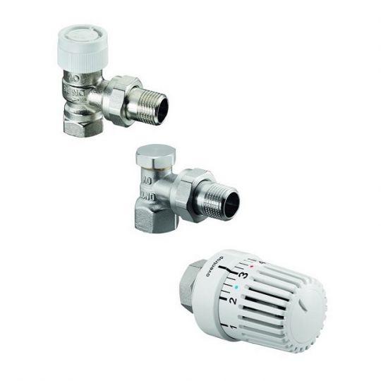 Set robineti calorifer tur + retur 1/2 + cap termostatat 1683704 Uni LH Oventrop
