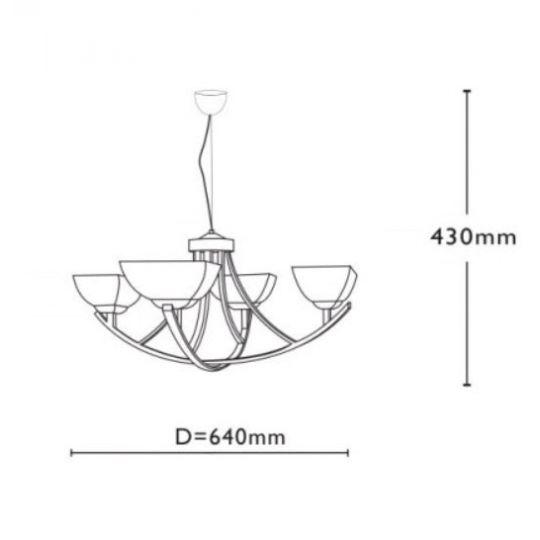 Lustra QUADRA ( 4xE27, max.60W ), Wenge , Metal