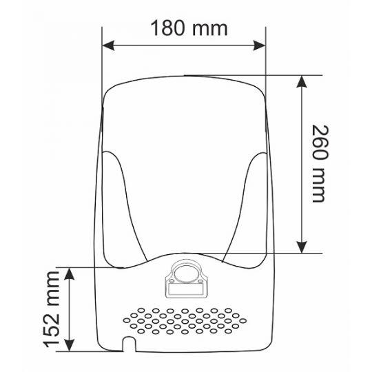 Uscator maini automat inox 1350W Jet GEHLER AK2803B