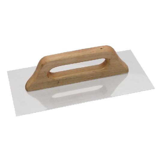 Drisca din otel inox cu maner de lemn 280x130 mm