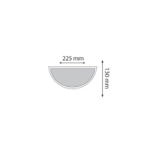 Aplica Interior, 1 x E27, Max. 75W, Alb, IP20, Model Ay, Novelite