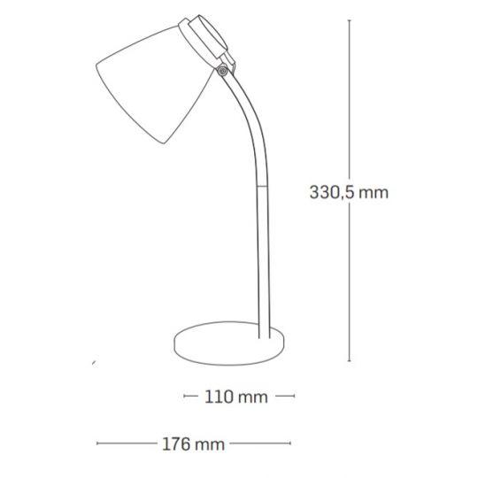 Lampa de Birou Ziggs LED 3W, Negru, Erste