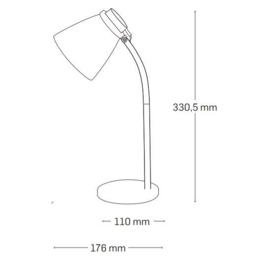 Lampa de Birou Ziggs LED 3W, Verde, Erste