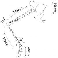 Lampa de Birou Desk, Max. 60W, Alb, 1xE27, Erste