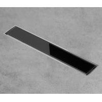 Rigola dus Gehler cu gratar inox model GLASSE (sticla negru), 50 mm cu izolatie