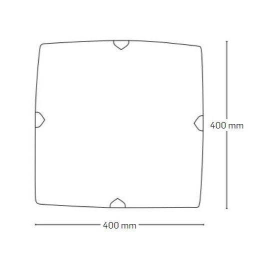 Plafoniera Interior Vibrato, 3 x E27, Max. 60W, Alb, Erste