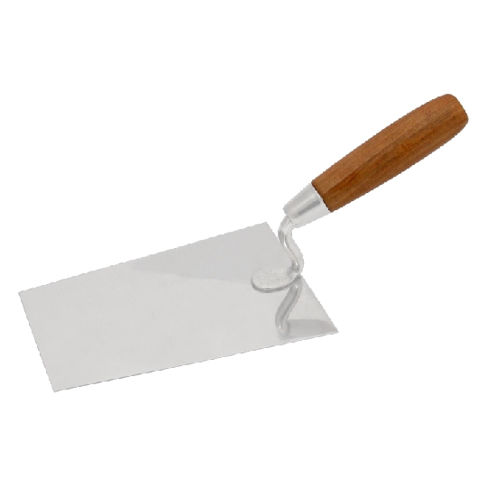 Mistrie inox cu maner de lemn ; lungime 160 mm