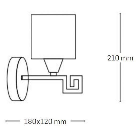 Aplica Interior Elada, 1 x E27, Max. 60W, Wenge, Erste