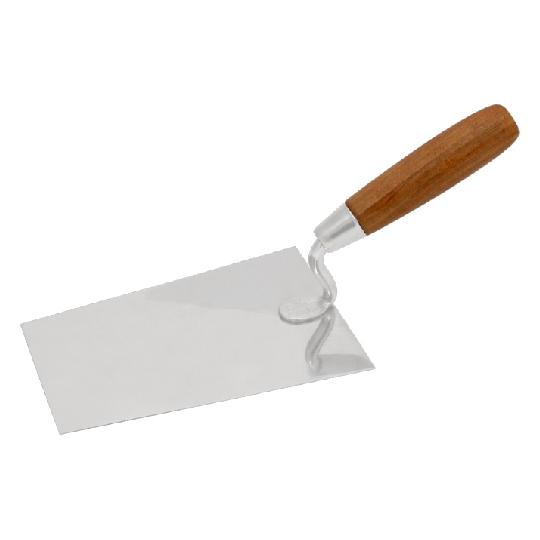 Mistrie inox cu maner de lemn ; lungime 180 mm