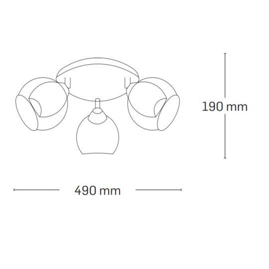 Lustra Interior Ezreal, 3 x E27, Max. 60W, Auriu, Erste