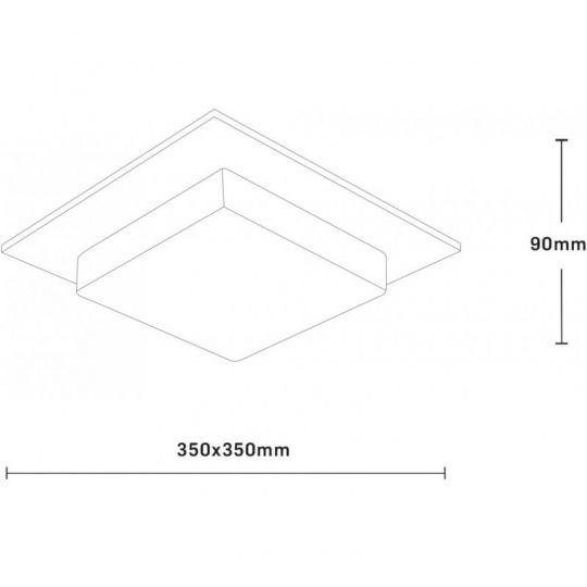 Plafoniera Interior Andra, 2 x E27, Max. 60W, Wenge, Erste