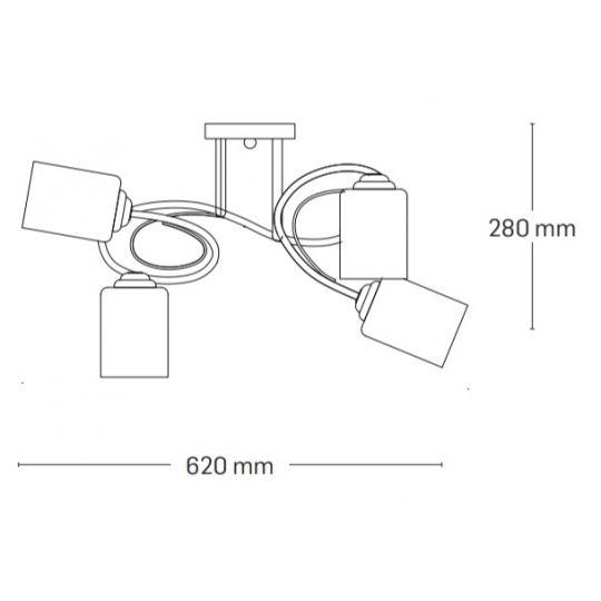 Lustra Interior Calypso, 4 x E27, Max. 60W, Crom, Erste