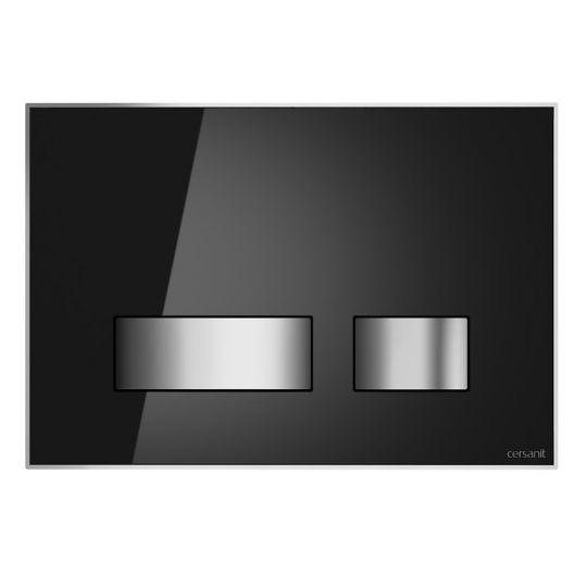Buton actionare dubla comanda Movi Glass, negru Cersanit