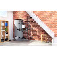 Boiler mixt cu 2 serpentine Eldom , capacitate 150 L, 3 kW, pe podea, control digital