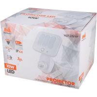 Proiector LED SMD 10W cu senzor miscare, telecomanda si alarma Evo Alb