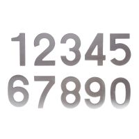 Cifre autoadezive 95x35 mm inox