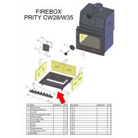 Ansamblu postament si gratar fonta focare CW28/CW35 Prity 58x51 cm