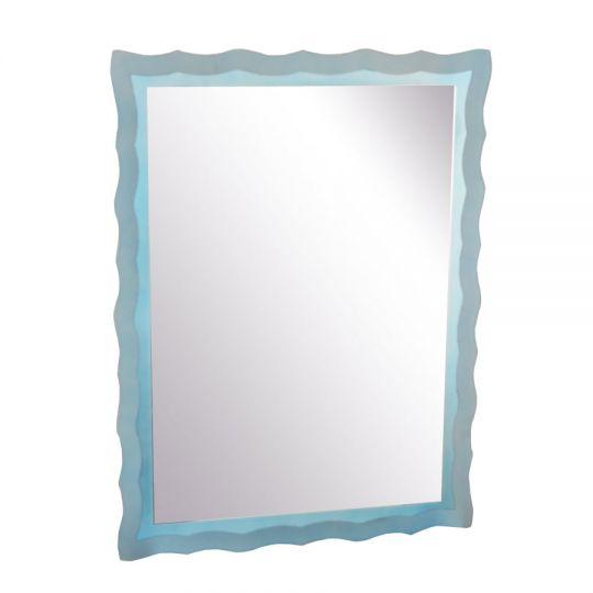 Oglinda de baie Wave Blue 80x60 cm