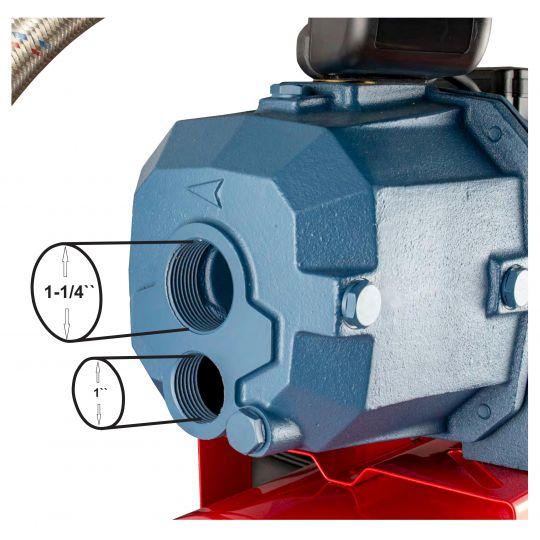 Hidrofor de adancime cu ejector Everpower BAR-TDP370/24, 1100W, vas otel 24 litri, debit 35L/min, adancime 17 m