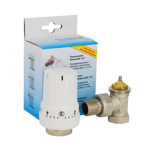 Set robinet coltar cu cap termostatat CORNAT 1/2