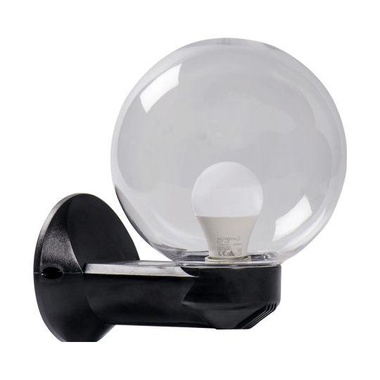 Lampa de gradina Luca Transparent 1xE27, 40W, prindere perete