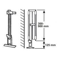 Suport pardoseala calorifer otel, inaltime 300-900 mm Cornat